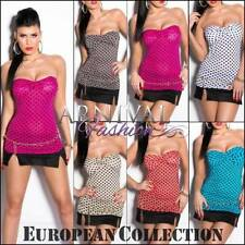 Women's Clubwear Strapless Sleeve Tops & Blouses