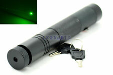 532nm Green Dot Laser Pointer Torch Style 3.7V Focusable Super-Powerful