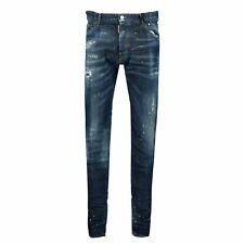 DSquared2 Cool Guy Yellow Paint Slim Fit Jeans