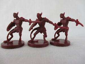 D&D WRATH OF ASHARDALON Board Game Lot of 3 LEGION DEVIL Miniatures WOTC New!!