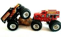 Hot Wheels INFERNO & BACK DRAFT 343 Monster Jam Monster Truck Demolition Doubles