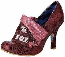 Irregular Choice Flick Flack Rosa Metálico Para Mujer Tacones Zapatos Puntera Cerrada