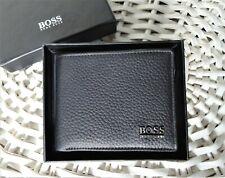 Men's Leather Wallet 'HUGO BOSS' Monist, Bifold, BLACK, Credit Card, Gift Box