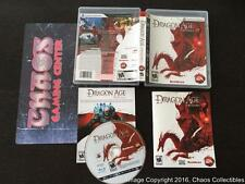 Dragon Age Origins (Sony Playstation 3 2009) CIB Complete  MINT PS3