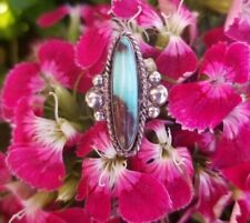 Oval Sterling Silver Ring Turquoise Old Pawn Vintage Estate