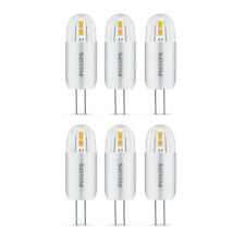 6 x Philips LED 1.2W - 10W G4 Capsule Light Bulb A++ 120lm 12v Warm White 2700K