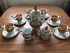 Mid-Century Capodimonte Cherub Coffee Set