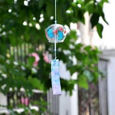 Glass Furin Wind Chimes Mobile Windchime Hanging Ornament Butterfly Flower