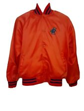 Vintage University of Florida Gators UF ORANGE Satin Jacket 1980s Large WIN WEAR