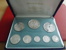 * Belize KMS 1974 PP Silber Proof Set *1 Cent-10 Dollars (ca.102,8g.) (Ki.8)