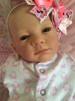 Made To Order Stunning Reborn Fake Baby Girl Anna Newborn Child Friendly 3+
