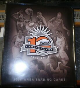 2006 WNBA Trading Cards Binder with Promo Lindsey Whalen Autograph Card Included