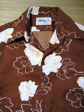 Vintage 1970s Tori Richard Large Hawaiian Shirt Freesia Aloha Hawaii 100% Poly