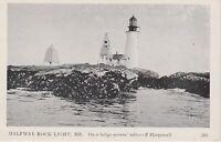 Harpswell ME Half Way Rock Lighthouse Vintage Postcard (RPPC)