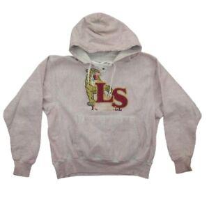 Vintage Champion Premium Reverse Weave Hoodie Size M 🔥 Sweatshirt Stained Pink