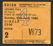 1980 Jethro Tull concert ticket stub Hammersmith London UK  Storm Watch A Tour
