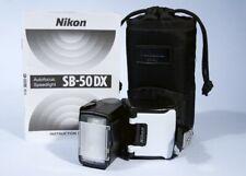 Nikon SB-50 DX Speedlight Shoe Mount Flash * Fully Working * FM3A FM2 F6 D1 D3