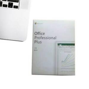 Microsoft Office Professional Plus 2019 1 PC WINDOWS LIFETIME RETAIL WITH DISC