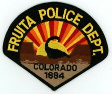 FRUITA COLORADO CO POLICE COLORFUL PATCH STYLE #2 SHERIFF