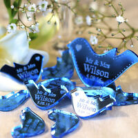 Personalised Mr & Mrs Love Heart Doves Wedding Table Decoration Favours