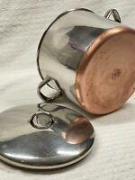 Vintage Revere Ware 1801 10 Qt Quart Copper Bottom Stock Pot w/ Lid -88 Clinton