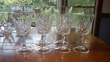 Cut Crystal Wine & Water Glasses Goblets 24% Lead Crystal BEAUTIFUL Tone 6 stems