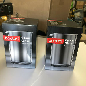 TWO New Bodum Spare Glass Carafe 1.5 Liter 51 Oz Ounce 12 Cup French Press NIB