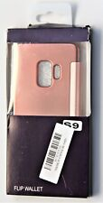 Samsung S9 Cell Phone Wallet Protective Cover Pink Ziluoshi