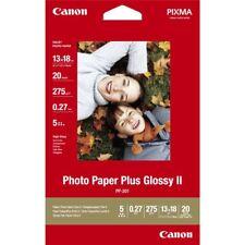 "Canon Pixma PP-201 (13 cm X 18 Cm) 275gsm Brillo II 5""x7"" Papel Fotográfico - 20 Hojas"