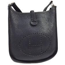 HERMES EVELYNE TPM Cross Body Shoulder Bag Navy Traurillon Clemence ⬜G JT06196b