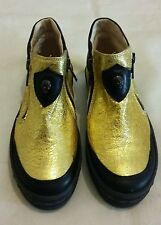 DIESEL Metallic Gold Leather Kids Shoe Boots Size uk 12.5 eu 31 Made in italy