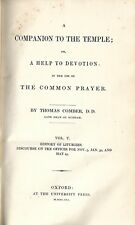 +1841 A COMPANION TO THE TEMPLE Vol V, Comber ANGLICAN PRAYER BOOK LITURGY
