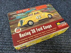 MONOGRAM VINTAGE 1/24th SCALE RACING 36 FORD COUPE SLOT CAR 1964 ORIGINAL KIT