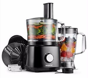 Emperial Food Processor Blender Chopper Juicer Dough Mixer 2 Speed & Pulse 750W