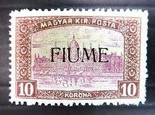 HUNGARY FIUME 1918 - 10Kr SG20 Cat £375 U/M NB614