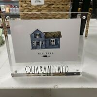 HOT!!NEW!!❤️Rae Dunn QUARANTINE Clear AcrylicBrick picture Frame 4x6 Horizontal