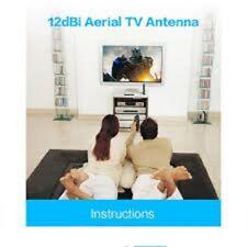 12dBi Antenne TV Antenne Pour DVB-T TV HDTV Numérique Tnt HDTV Antenne Booster