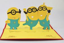 pop up Minions greeting card despicable me greeting card / 3d card / kawaii.
