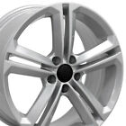 18x8 Silver Rims 69924 Set4 Fit Volkswagen Vw Gti Jetta Eos Cc Passat