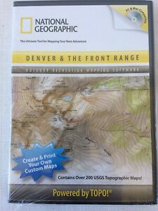2007 National Geographic TOPO Mapping Software Denver & The Front Range