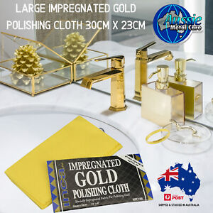 Impregnated Gold Polishing Cloth for Cleaning & Polishing Jewellery Tapware Gold