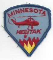 Minnesota Helitak Cloth Shoulder Patch VG - Excellent Fire Fighter Helicopter