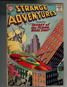 DC STRANGE ADVENTURES #114 MAR 1960 FN+ 7.5 SECRET OF THE FLYING BUZZ-SAW MID