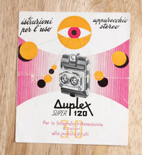 Iso Duplex Super 120 Instruction Book In Italian/cks/199894