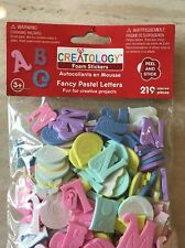 New Creatology- Foam Stickers Fancy Pastel Letters 219 Pieces