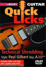 Bibliothèque lécher apprendre à jouer rapide lèche Paul Gilbert technique déchiqueter Guitare DVD