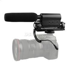 SGC598 Stereo Recording interview MIC Microphone for DV DSLR Camera Canon Sony