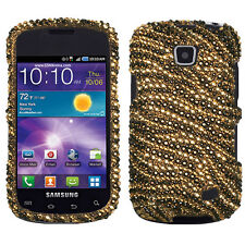 For Samsung Galaxy Proclaim Crystal Diamond BLING Hard Case Phone Cover Tiger