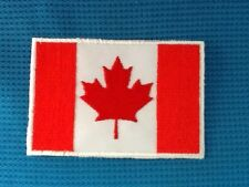 CANADIAN FLAG CANADA MAPLE LEAF SOW SEW IRON ON PATCH BADGE