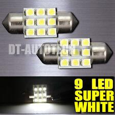 10X 6000K White SMD 9-LED Map/Dome Interior Lights Bulbs 31MM Festoon